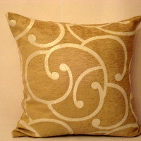 Embellished silver spiral cushion – Jacquard Peru pillow 22x22