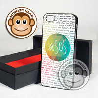 Colorful 5SOS Quote Design for iPhone 4/4s, 5, 5s, 5c and Samsung Galaxy s3 and s4 Case