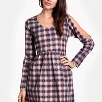 Easy Going Plaid Dress By MINKPINK