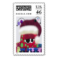 The Christmas Love Bug ~ Postage Stamps