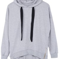 ROMWE | ROMWE Simple Long-sleeved Gray Hoodie, The Latest Street Fashion