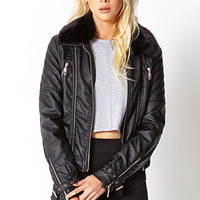 Posh Faux Leather Moto Jacket