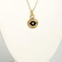 The Black Eyed Pendant Gold Pendant Necklace
