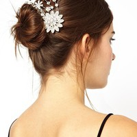 Love Rocks Flower Burst Hair Clip