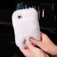 Rex Rabbit Hair Phone Case For iPhone