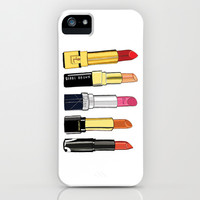 Lipstick combo iPhone & iPod Case by 23madisonstudio