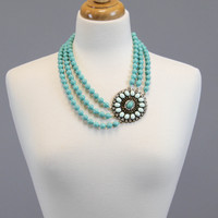 Off Side Necklace - Turquoise