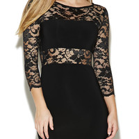 Lace Sweetheart Paneled Dress | Arden B.