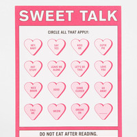 Knock Knock Sweet Talk Notepad - Urban Outfitters