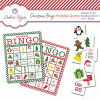 Christmas BINGO Printable Game, Instant Download