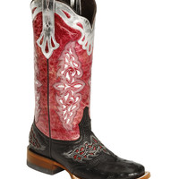 Lucchese Sweetwater Full Quill Ostrich Cowgirl Boots - Square Toe - Sheplers