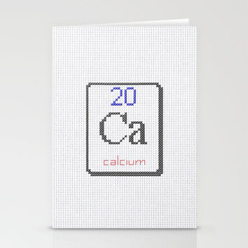 Ca calcium 20 Stationery Cards by LacyDermy