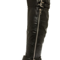 Clayton 14 Black Over the Knee Riding Boots
