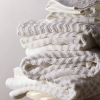 Palmer Towel Collection by Anthropologie Cream Wash Cloth House & Home