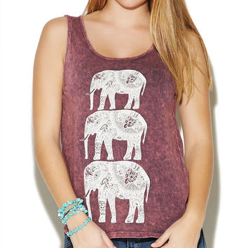Elephants Mineral Washed Tank | Wet Seal