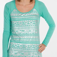 Women's Foiled Topin Turquoise by Daytrip.