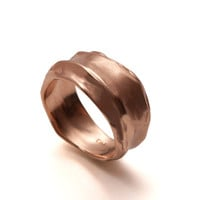 Wrap No.1 - 14k Rose Gold Ring , Unisex Ring , Wedding Ring , Wedding Band , Mens Ring