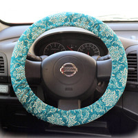 Steering-wheel-cover-cheetah-wheel-car-accessories-Ornament-Turquoise-Steering-Wheel-Cover