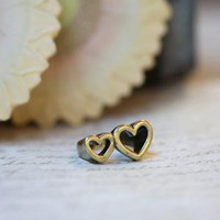 stuck to you double heart ring - $9.99 : ShopRuche.com, Vintage Inspired Clothing, Affordable Clothes, Eco friendly Fashion