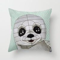 Baby Seal Propaganda - Hemlock  Throw Pillow by alterEGO