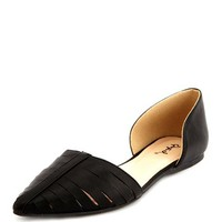 CAGED POINTY TOE D'ORSAY FLAT