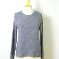 Revival Iowa City — Olivaceous Heavy Knit Gray Fisherman's Sweater