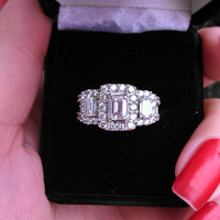 14k Gold 3ct Diamond Engagement Ring 9.2 Grams
