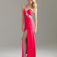 2012 Spring Sexy One Shoulder Brush Beading Prom Dresses Style 6424-9,2012 Prom Dresses