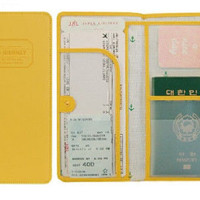 SK-Y THE JOURNEY Long Passport Cover Case Wallet Pocket Holder Keeper Bag