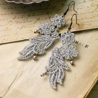 marlo lace earrings by whiteowl on Etsy