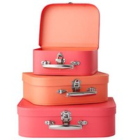 Bon Voyage Suitcase (Pink/Peach) in Bins & Baskets | The Land of Nod