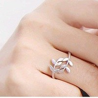 Greek Leaf Wrap Ring in Silver, Copper, or Gold!