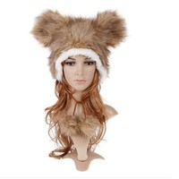 Wild Side Furrocious Bear Plush Adult Hat