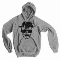 Breaking Bad - Heisenberg Sketch American Apparel Hoodie, Heather Grey, Large