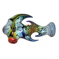 Glass Handpipe - Cobalt Glass with Appendages - Choice of 2 colors - Colored and Color Changing Glass - Smoking Pipes - Grasscity.com