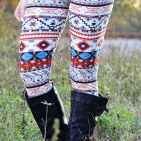 Just Hold On Leggings: Multi/Off White