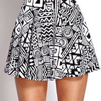 Tribal Print Skater Skirt