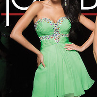 Short Strapless Sweetheart Tony Bowls Dress
