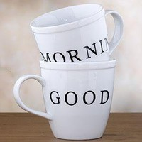 Good Morning Mugs Set of 2 - Mugs 