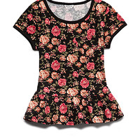 Fancy Floral Peplum Tee (Kids)