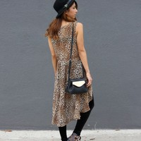 Leopard Print High Low Top