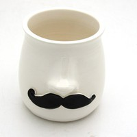Moustache and Nose Small Vase Planter Pencil cup or by LennyMud
