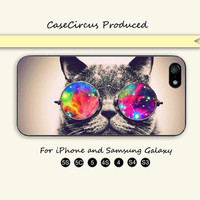 Little cat,Sunglass,Cute,iPhone 5, iPhone 5C Case, iPhone 5S , Phone cases, iPhone 4 , iPhone 4S , Case,Samsung Galaxy S3, Samsung Galaxy S4