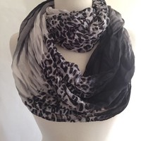 Scarves by Justbella's Leopard Crinkle Infinity Scarf