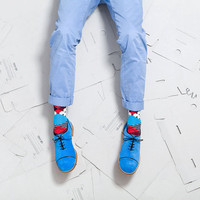 20% Off Coupon Make to Order! Bubble Gum Blue Suede Men Oxford with Black Piping