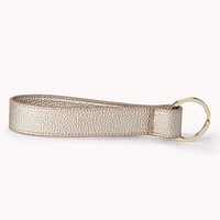 Sleek Faux Leather Keyring