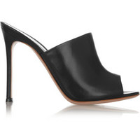 Gianvito Rossi Leather mules – 60% at THE OUTNET.COM