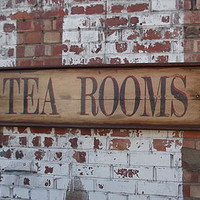 Large Tea Rooms Sign