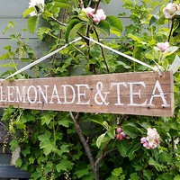 Personalised Vintage Style Garden Party Sign