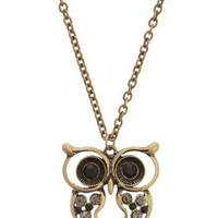 Hoot n' Holler Necklace | Mod Retro Vintage Necklaces | ModCloth.com